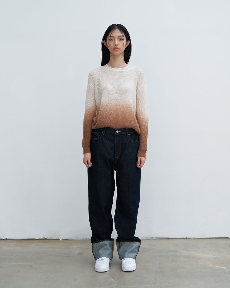 Ombre kid mohair sweater