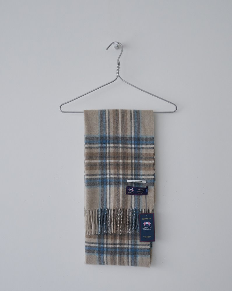 British merino wool check scarf