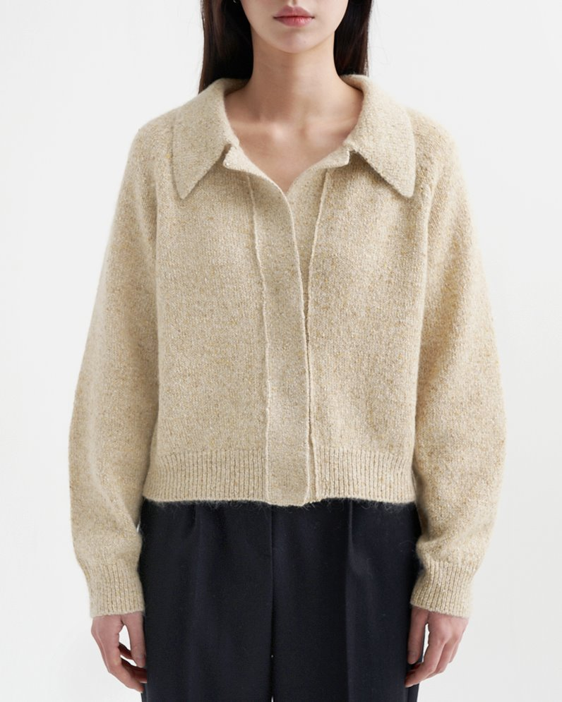 Silky Mohair Cardigan (BEIGE) ATELIER EDITION