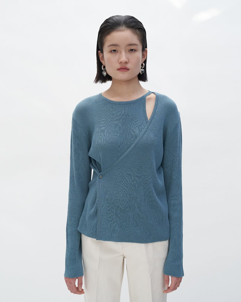 Cardiganized Knit Top