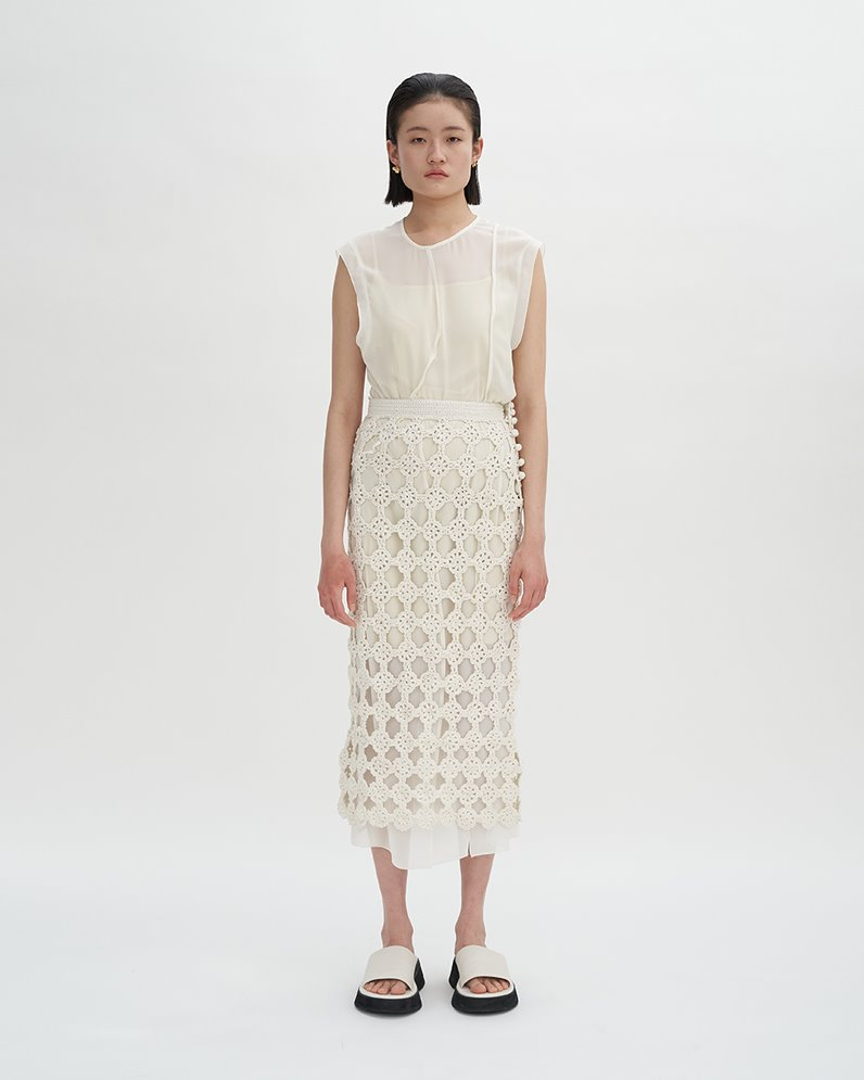Paneled Dress with Inner Slip