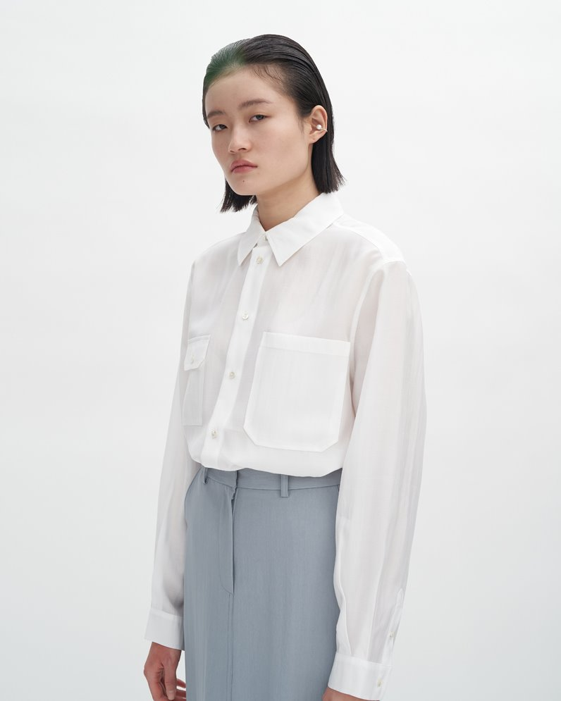Asymmetry Pocket Blouse
