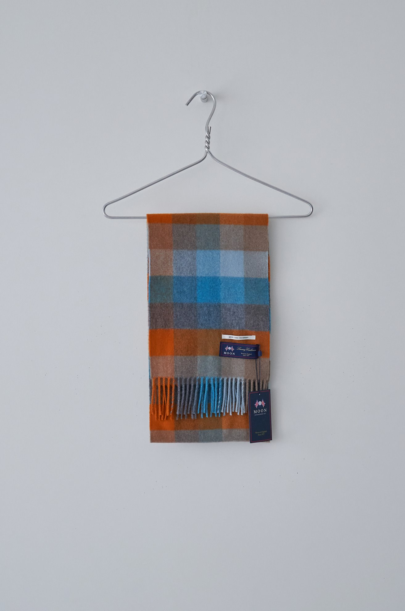 British cashmere check scarf ATELIER EDITION