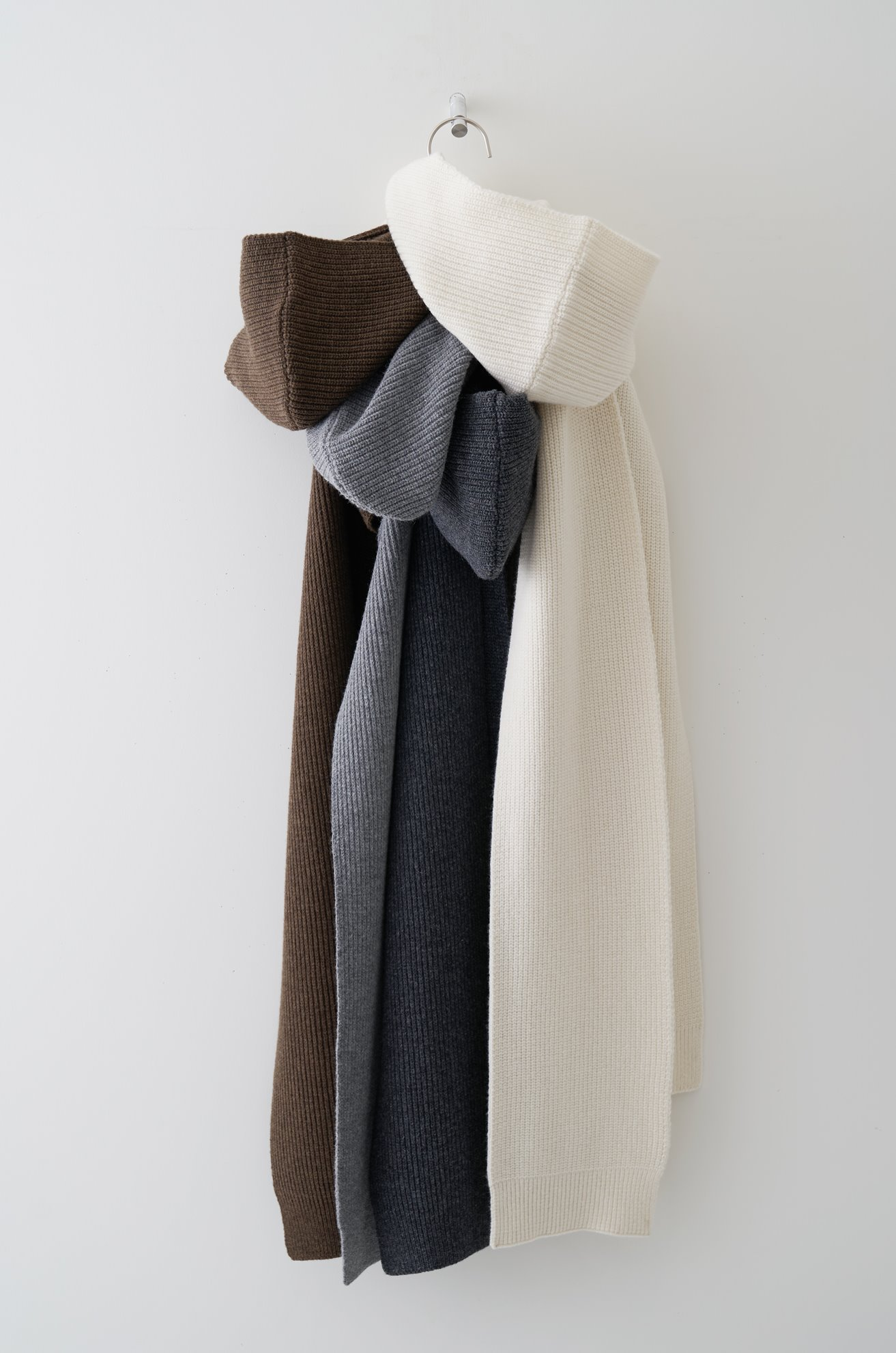 Cashmere Blended Hooded Scarf