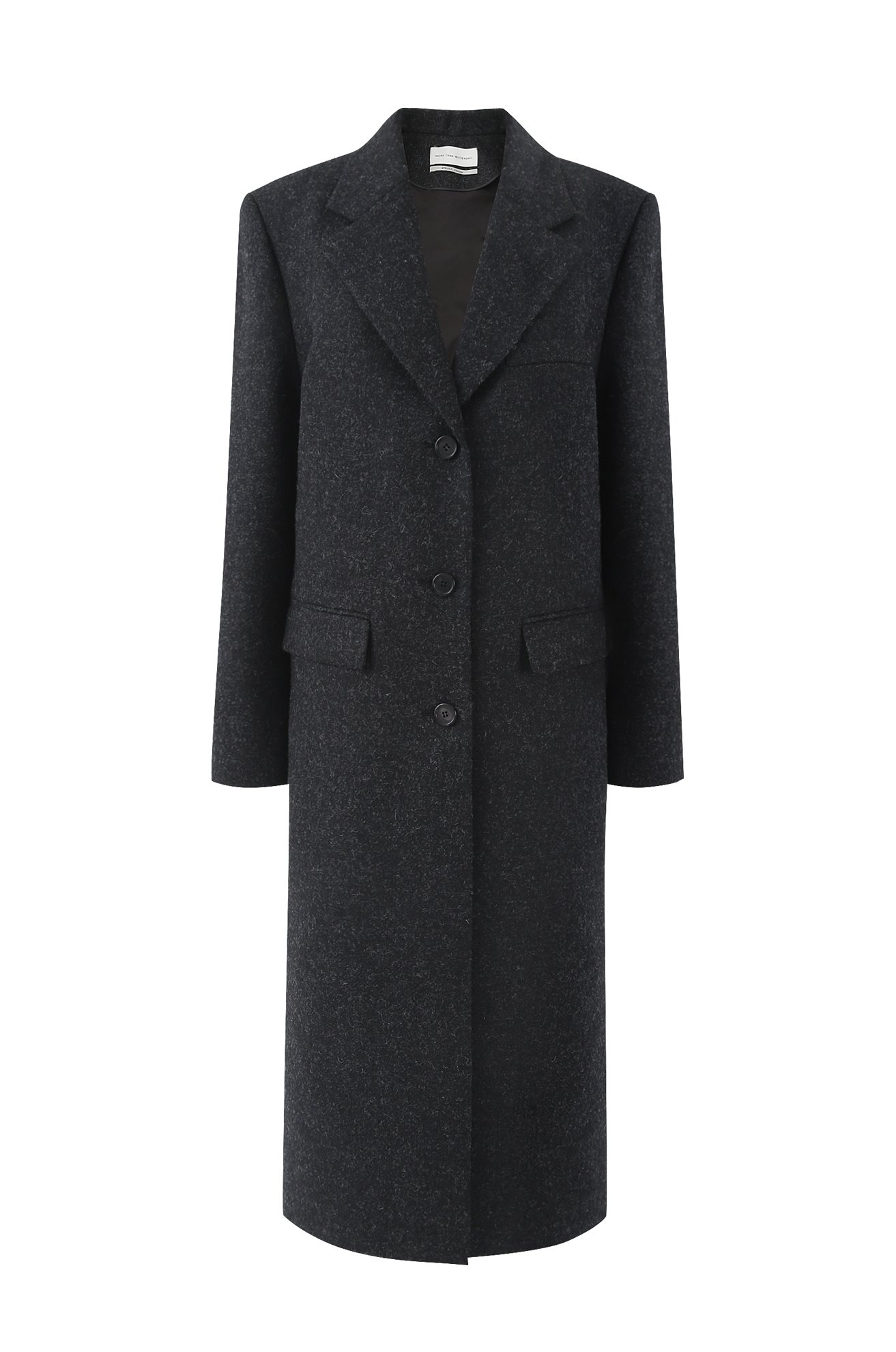 British Wool Coat with Detachable Duck Down Vest (BLACK)ATELIER EDITION
