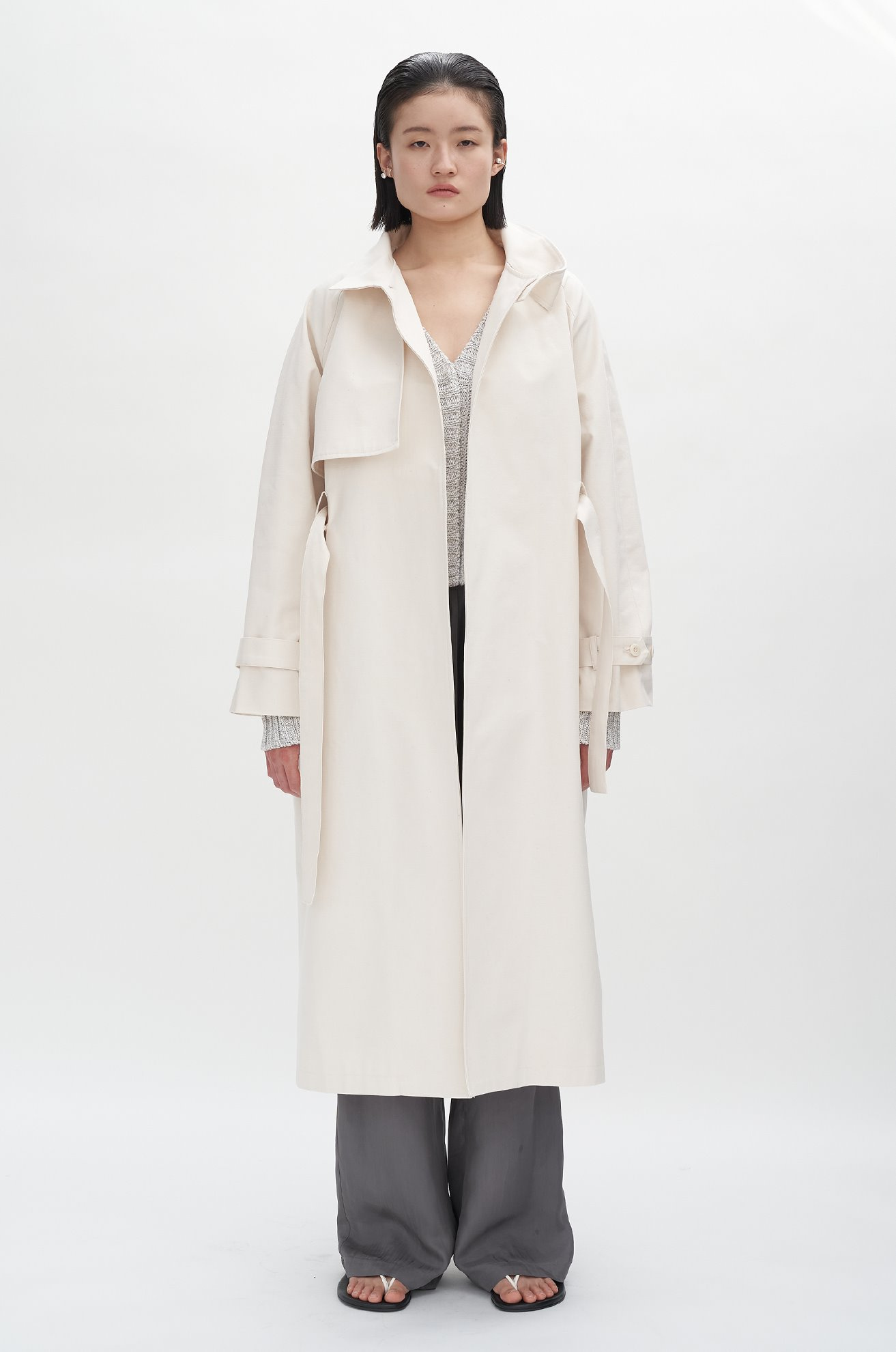High Neck Trench Coat