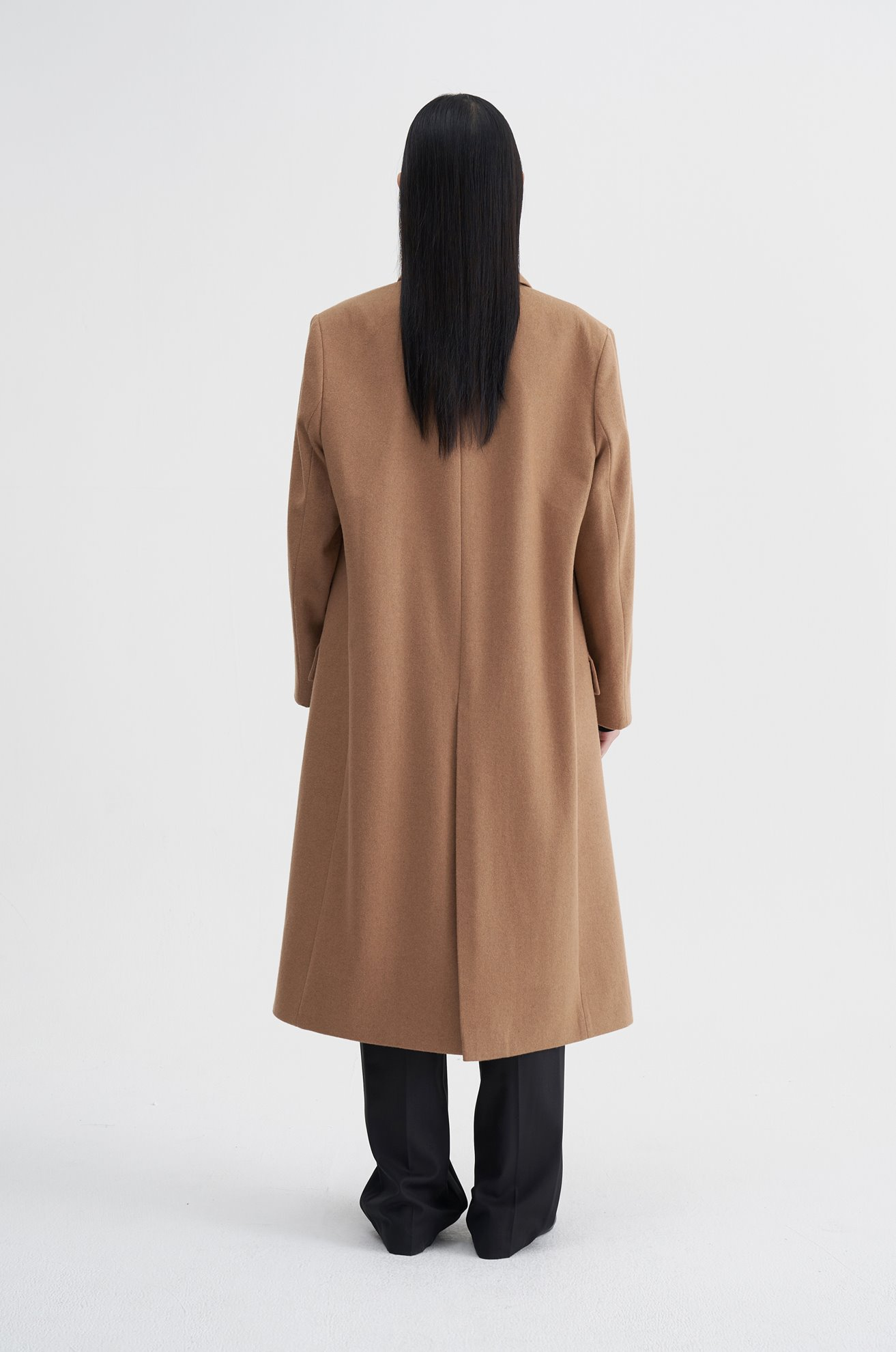 Hidden Button Wool Coat