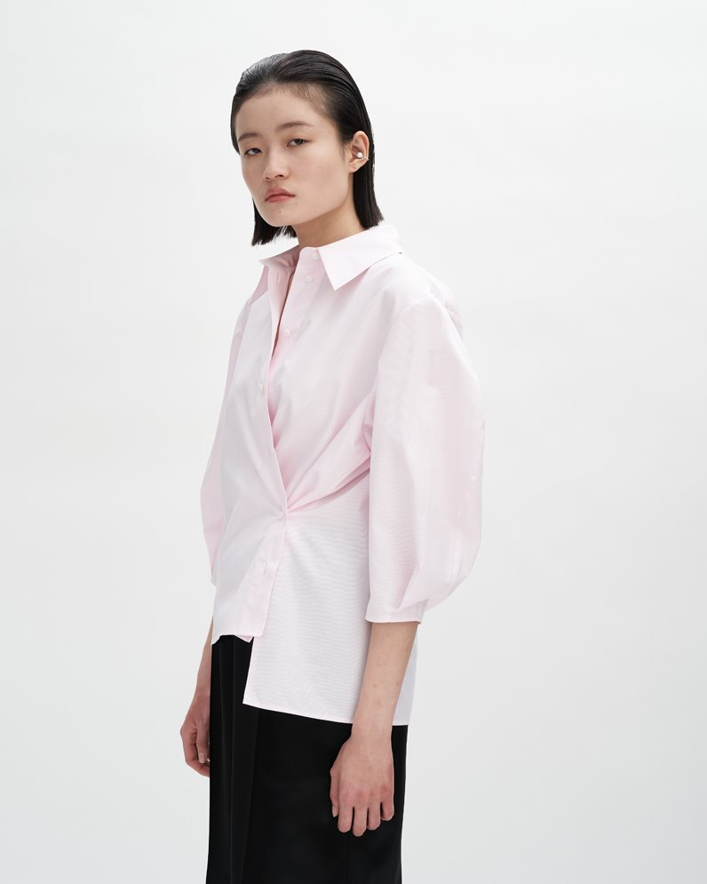 PUFF SLEEVE BLOUSE (STRIPE PINK) ATELIER EDITION