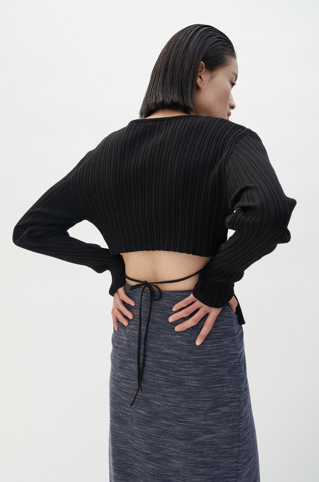 Exposed Back Knit