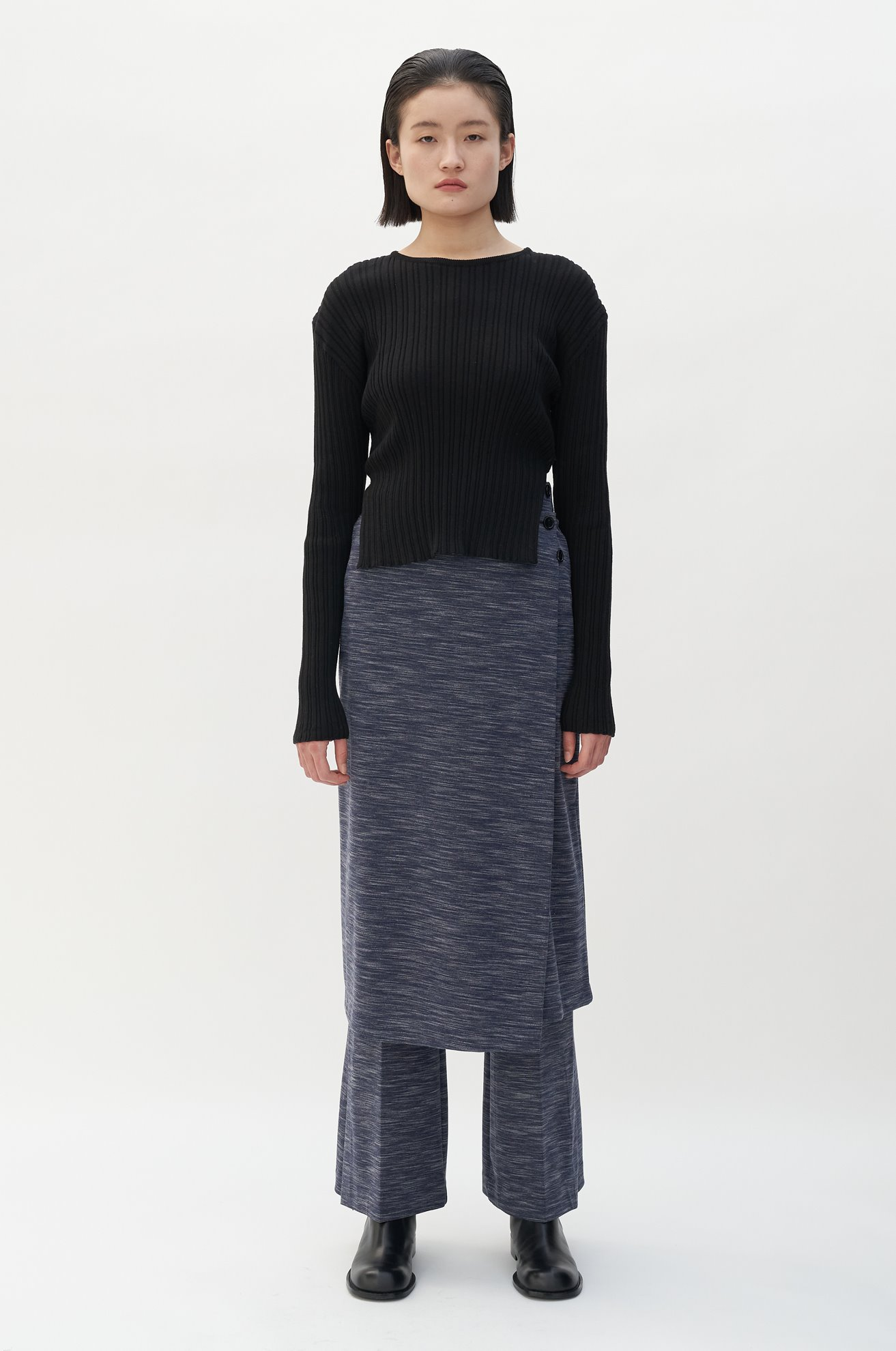 Space Dyed Interlock Skirt