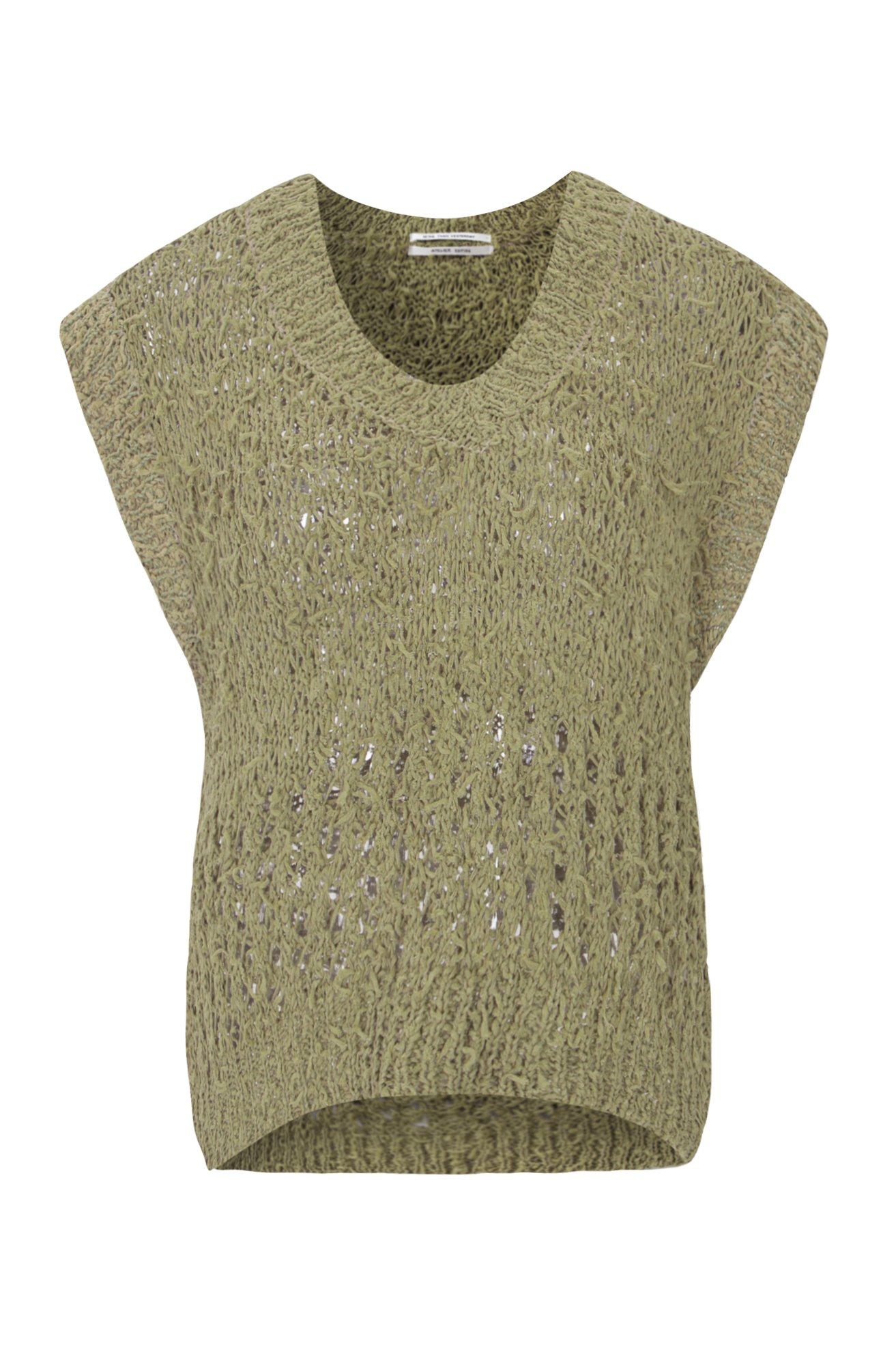 FANCY SUMMER YARN VEST (KHAKI) ATELIER EDITION