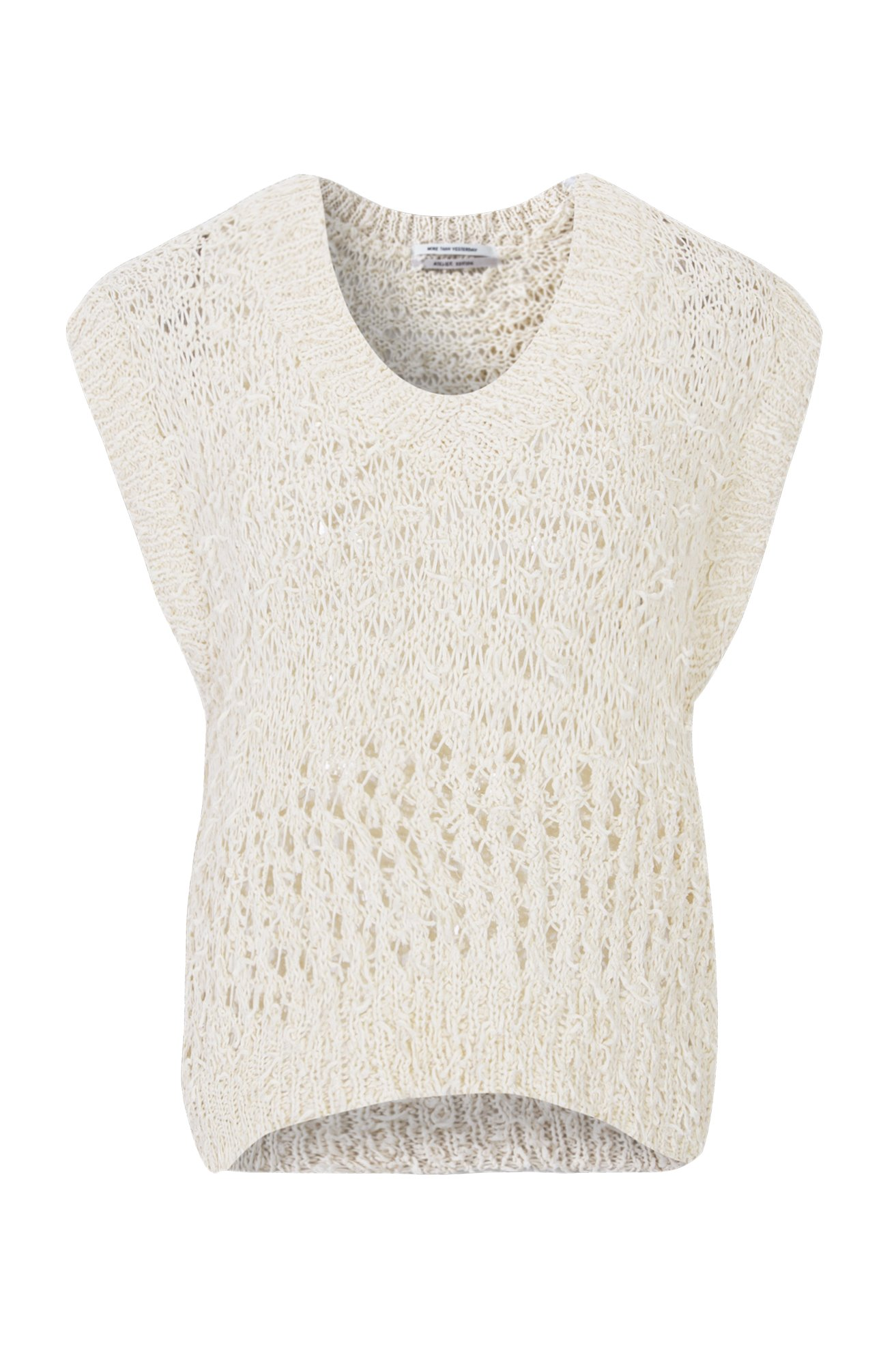 FANCY SUMMER YARN VEST (CREAM) ATELIER EDITION
