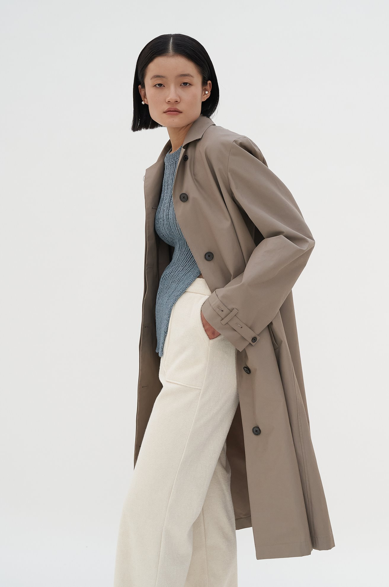 Single Brested Trench Coat