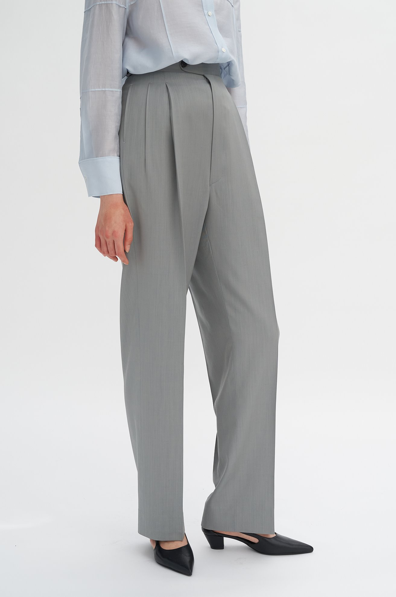 Two-tuck Slacks with Elastic Adjustors